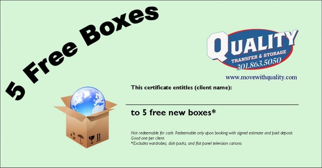 5 Free Boxes